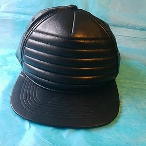 Other - The Research & Development Black Leather Hat